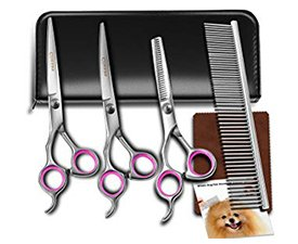 Dog grooming scissor kit